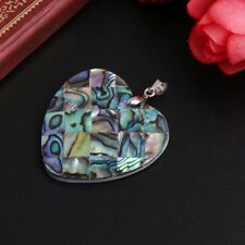 Colorful Heart Shape Natural Abalone Shell Jewelry Necklace Insertion Pendant