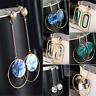 Fashion Geometric Round Circle Dangle Drop Ear Stud Earrings Women Party Jewelry