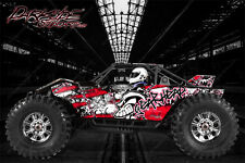 """AXIAL YETI MONSTER BUGGY WRAP GRAPHICS """"GEAR HEAD"""" FITS OEM BODY PARTS 1/8 RED"""