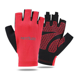 Men Women Gloves Anti-Slip Anti-Sweat Half-Finger Sports Gloves
