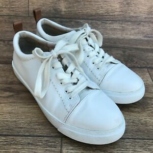 SIZE UK 4 D CLARKS SOMERSET GLOVE ECHO IVORY LEATHER LACE UP CASUAL SHOES