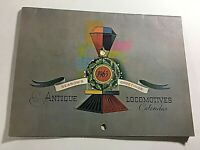 Vintage 1963 Christmas Train Calendar Antique Locomotives In Color Great Art!