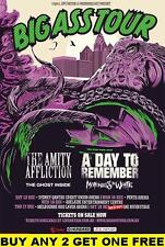 THE AMITY AFFLICTION 2015 Laminated Australian Tour Poster