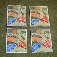 VINTAGE ACTION MAN 40th ACTION SOLDIER MAPS X 4
