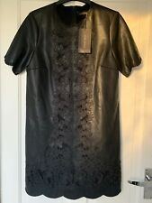 Zara Black Faux Leather Dress Size S BNWT
