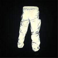 Hot Fashion 3M Reflective Dance Pants Men Women Sports Cycling Jogging Trousers