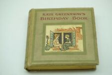 KATE GREENAWAY'S BIRTHDAY BOOK SALE BARKER WARNE LONDON TIPPED IN COVER ILLUS
