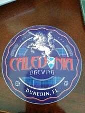 Caledonia brewing craft beer brewery STICKER logo  Dunedin FL