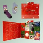 Disney Women's 12 Days of Christmas Socks Size 4-10 Advent Calendar Sold Out NEW