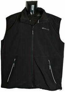 MERCEDES AMG Men's (3XL) Black Performance Soft Shell Vest Jacket - Motorsport