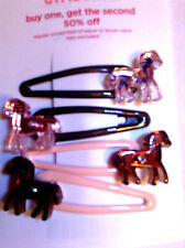 Gymboree Cutest Cowgirl Barrettes/Clips NWT Horses Pink/brown Great Items