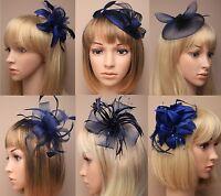 Ascot / COURSES BLEU MARINE FLEUR / CHAPEAU Pince à cheveux bibi / PEIGNE /