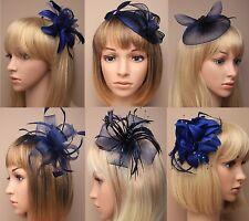 Ascot/Races Navy Blue Flower/Hat Hair Fascinator Clip/Comb/Alice/Headband choice