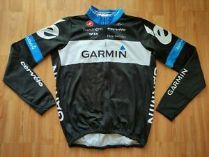 Castelli Garmin Cervélo Pro cycling Team Fleece Cycling Jacket Size: 3XL