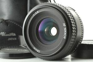 <MINT+> Nikon AF Nikkor 28mm f/2.8 Wide Angle Lens w/Hood HN-2 Pouch Japan 2186