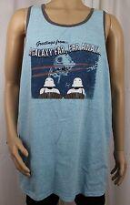 Star Wars Greetings From A Galaxy Far, Far Away Blue Mens XL Tank Top