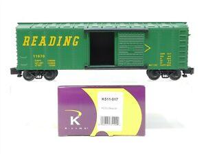 S Scale K-Line K511-017 RDG Reading Company 40' Single Door Box Car #11670