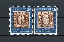 Bund 115 + 115 I 100 Jahre deutsche Briefmarken postfrisch mit Attest (25376)