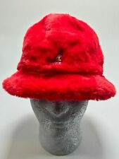 Kangol Unisex Red Faux Fur Casual Hat
