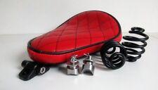 Solo Kit Completo De Asiento Muelles & Soporte Resistente Rojo Negro Harley Chopper Bobber