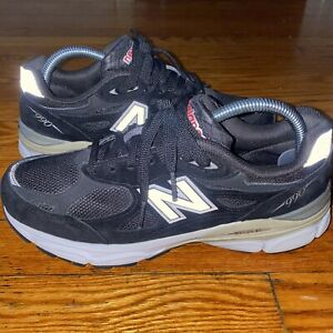 New Balance 990v3 Black White Size 8.5 Used 2A Narrow Shoes Rare Made In The USA