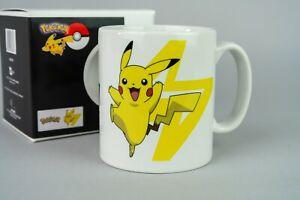 Tasse Pokémon * Logo PKM & Pikachu * Becher Kaffeebecher * weiß * NEU / OVP