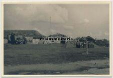 Orig. Foto Nachrichten Funkstelle m. Funkwagen Antenne Siecze Weissrussland 1941