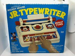 RARE ILLCO DISNEY MICKEY MOUSE DONALD DUCK JR. TYPEWRITER ~ NEW IN OPEN BOX! b4