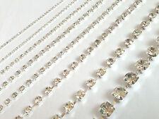 2 metri CUCIRE DA DIAMANTE FINTO strass cristalli collana rifinitura 4.5mm