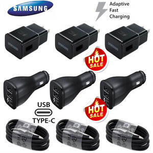 Original Samsung Galaxy S8 S9 S10+ Note8 Plus Fast Car Wall Charger Type-C Cable