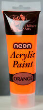 Acrylic Paints 14 Assorted Colours 120ml Tube Arts Crafts Children Artist Neon Pink