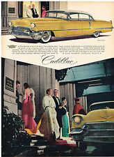 Vintage 1956 Magazine Ad Cadillac Sixty Special and US Royal Tires Back to Back