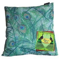 Moss Peacock Design Cushion Cover, Home Gift Soft