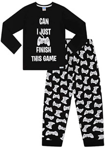 Boys Can I Just Finish This Game Long Cotton Pyjamas 9 to 16 Years