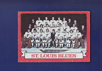 St. Louis Blues Team 1973-74 O-PEE-CHEE OPC Hockey #105 (EXMT+)