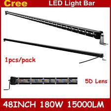 "48""inch 180W 5D Super Slim Single Row Cree LED Light Bar Offroad Driving Lamp"