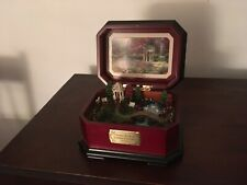 Thomas Kinkade Garden of Prayer Music Box Plays You'll Never Walk Alone