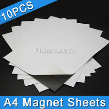 x10 A4 Magnet Sheets Magnetic Self Adhesive 1.0mm Thickness Hand Crafts AU
