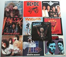 HARD ROCK PICTURE SLEEVES: AC/DC, MOTLEY CRUE, WASP, UFO, URIAH HEEP...10 diff