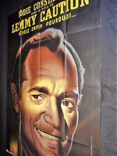 LES FEMMES S'EN BALANCENT eddie contantine rare affiche cinema  120x320cm 1953