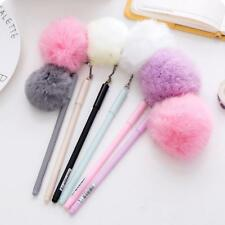 Cute Plush Fur Ball Pens School Office Ballpoint Pen Girl Stationery-Supplies!
