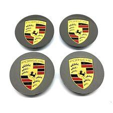 New Genuine Porsche Turbo II Colour Crested Centre Caps 00004460705