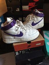 Vintage 1999 Box Nike Air Force 1 Purple Retro QS 9.5 High White Sf Af1