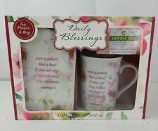 Daily Blessings Religious Tea Cup Mug Set - 1 Corinthians 13