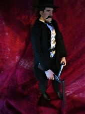 Detailed 12'' WYATT EARP FIGURE OK CORRAL  PARTNER TO THEY DOC HOLIDAY