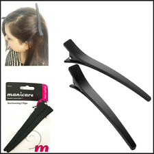2 Hair Section Clips Matte Crocodile Snap Hold Grip Salon Styling Hairdressing