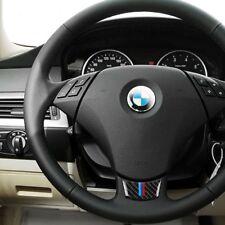 For BMW E60 E61 5 Series Car Steering Wheel Cover Carbon Fiber M Stripe Stickers