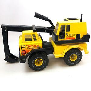 1980s Tonka Excavator Backhoe Truck Shovel Loader Turbo-Diesel XMB-975 Wheels