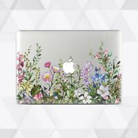 Wild Flowers Floral Macbook 12 Air 11 13 Pro 13 15 Top Bottom Printed Shell Case
