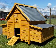 LARGE ECO10002N CHICKEN COOP RUN HEN HOUSE POULTRY NEST BOX COOPS HUTCH PLASTIC